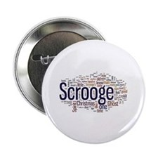"Scrooge Christmas Carol Word Art 2.25"" Button"