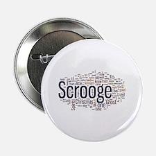 "Scrooge Christmas Carol Word Art 2.25"" Button"