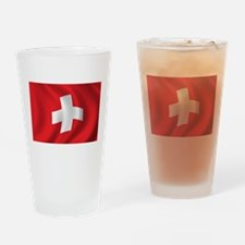 Flag of Switzerland Drinking Glass