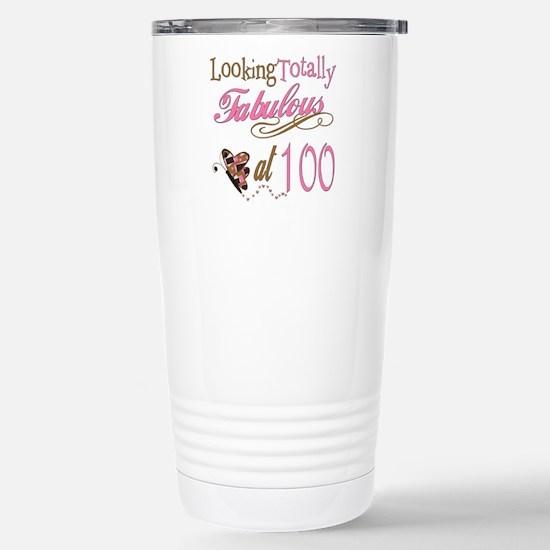 Fabulous 100th Stainless Steel Travel Mug