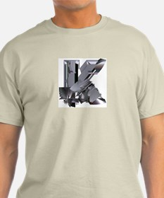 Heavy Metal K Ash Grey T-Shirt