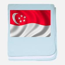 Flag of Singapore baby blanket