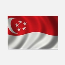 Flag of Singapore Rectangle Magnet