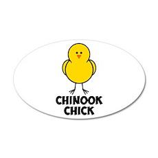 Chinook Chick 38.5 x 24.5 Oval Wall Peel