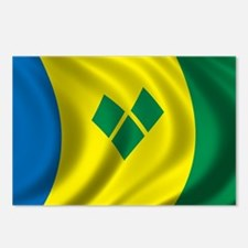 Flag of Saint Vincent and the Grenadines Postcards