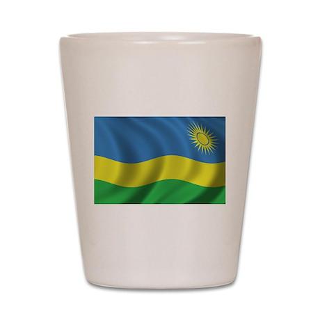 Flag of Rwanda Shot Glass