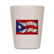 Flag of Puerto Rico Shot Glass