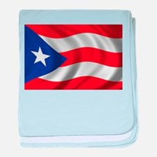 Flag of Puerto Rico baby blanket