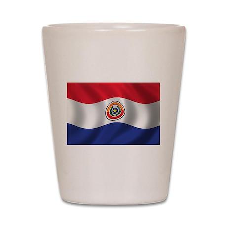 Flag of Paraguay Shot Glass