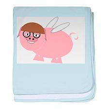 Flying Pig Design baby blanket