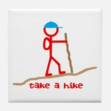 Cute Hike Tile Coaster