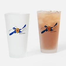 Nova Scotia Flag Drinking Glass