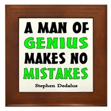 Man of Genius Framed Tile