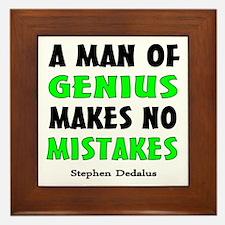 Man of Genius Framed Tile