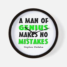 Man of Genius Wall Clock