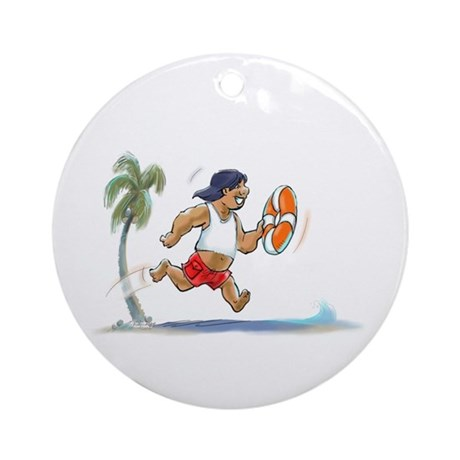 hAwAiiAn LiFeGuArD Ornament (Round)