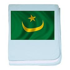 Flag of Mauritania baby blanket
