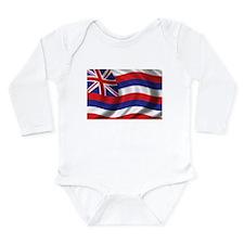 Flag of Hawaii Long Sleeve Infant Bodysuit
