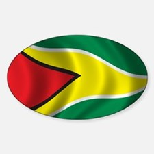 Flag of Guyana Sticker (Oval)