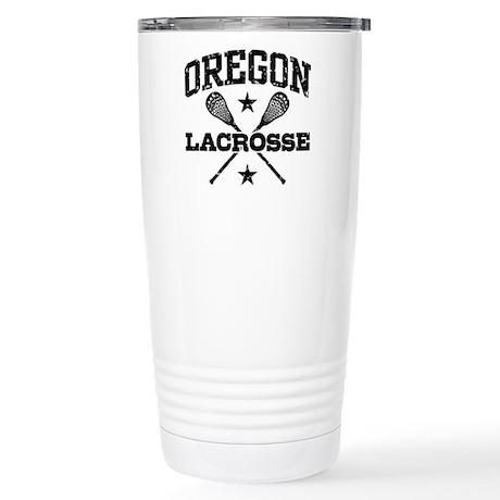 Oregon Lacrosse Stainless Steel Travel Mug