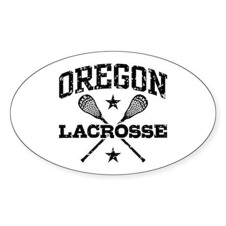 Oregon Lacrosse Sticker (Oval)