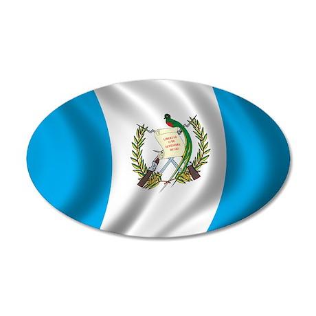 Flag of Guatemala 38.5 x 24.5 Oval Wall Peel