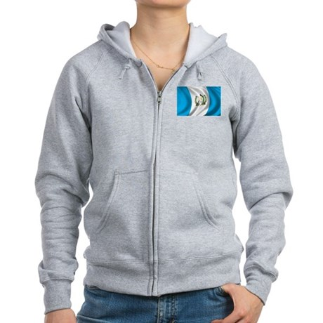 Flag of Guatemala Women's Zip Hoodie