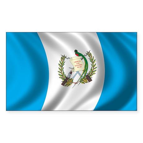 Flag of Guatemala Sticker (Rectangle)