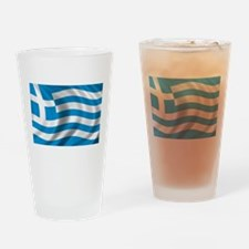 Flag of Greece Drinking Glass