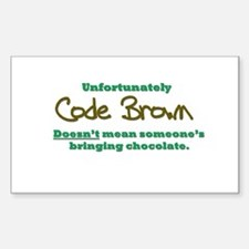 Code Brown Decal