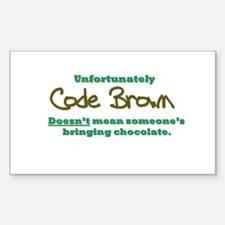 Code Brown Sticker (Rectangle)