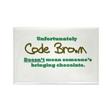 Code Brown Rectangle Magnet (10 pack)