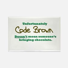 Code Brown Rectangle Magnet