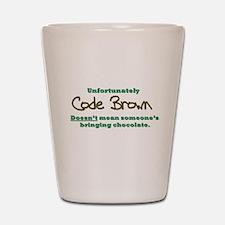 Code Brown Shot Glass