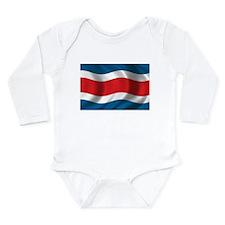 Flag of Costa Rica Long Sleeve Infant Bodysuit