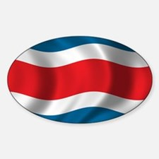 Flag of Costa Rica Sticker (Oval)