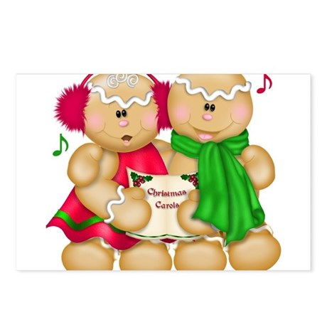Cute Christmas Gingerbread Cookie Gifts Postcards