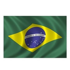 Flag of Brazil Postcards (Package of 8)