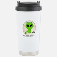 alien kitty Stainless Steel Travel Mug
