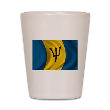 Flag of Barbados Shot Glass