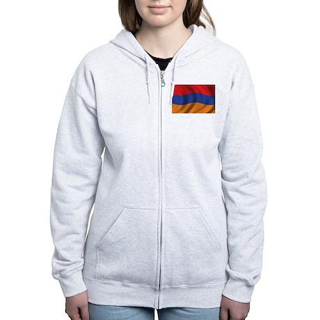 Flag of Armenia Women's Zip Hoodie