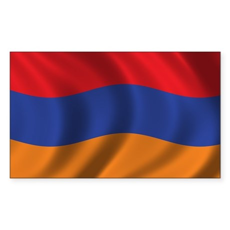 Flag of Armenia Sticker (Rectangle)