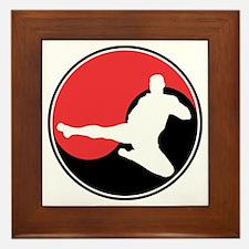 Martial Arts Yin Yang Framed Tile