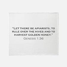 Apiarist / Genesis Throw Blanket