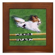 Red Sable Papillon in Agility Framed Tile