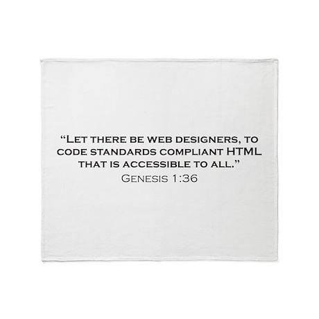 Web Designer / Genesis Throw Blanket