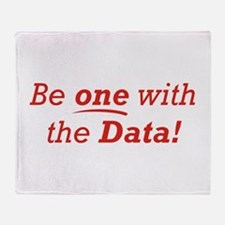 One / Data Throw Blanket