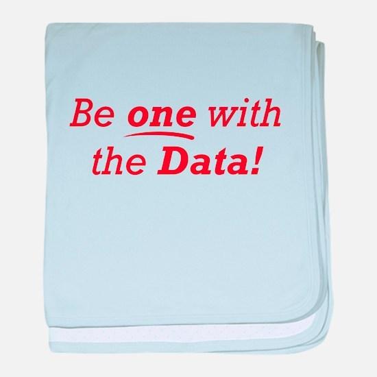 One / Data baby blanket
