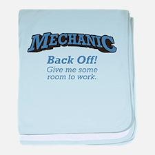 Mechanic / Back Off baby blanket