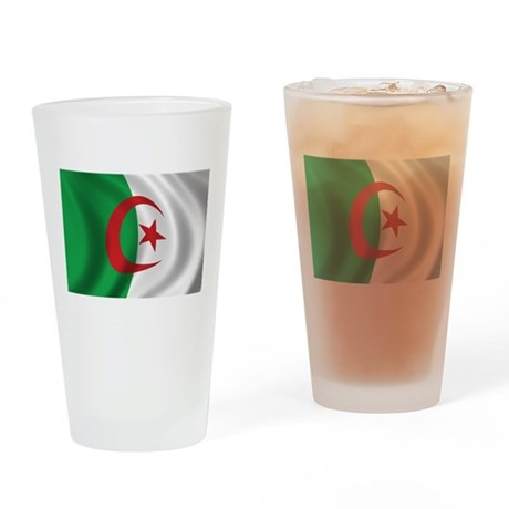 Flag of Algeria Drinking Glass